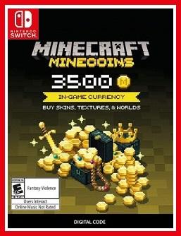 Minecraft Minecoins Pack Nintendo Switch Key Free redeem codes download